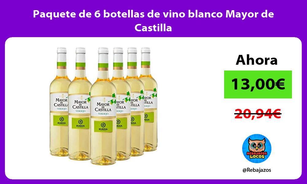 Paquete de 6 botellas de vino blanco Mayor de Castilla