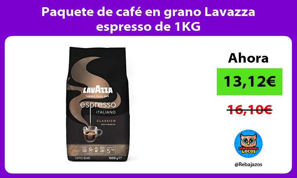 Paquete de cafe en grano Lavazza espresso de 1KG