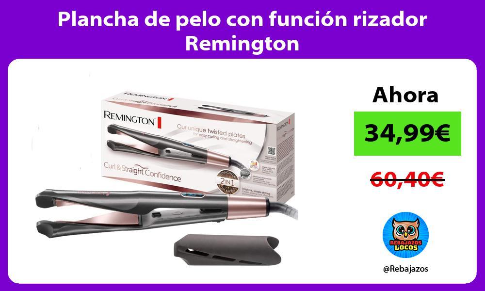 Plancha de pelo con funcion rizador Remington