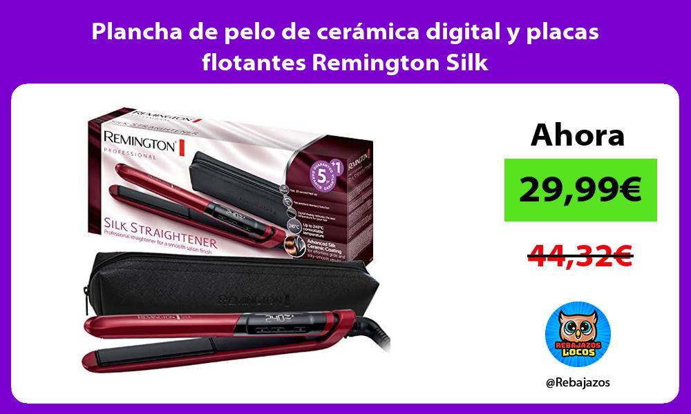 Plancha de pelo de ceramica digital y placas flotantes Remington Silk