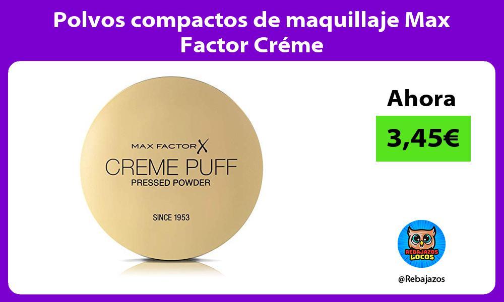 Polvos compactos de maquillaje Max Factor Creme