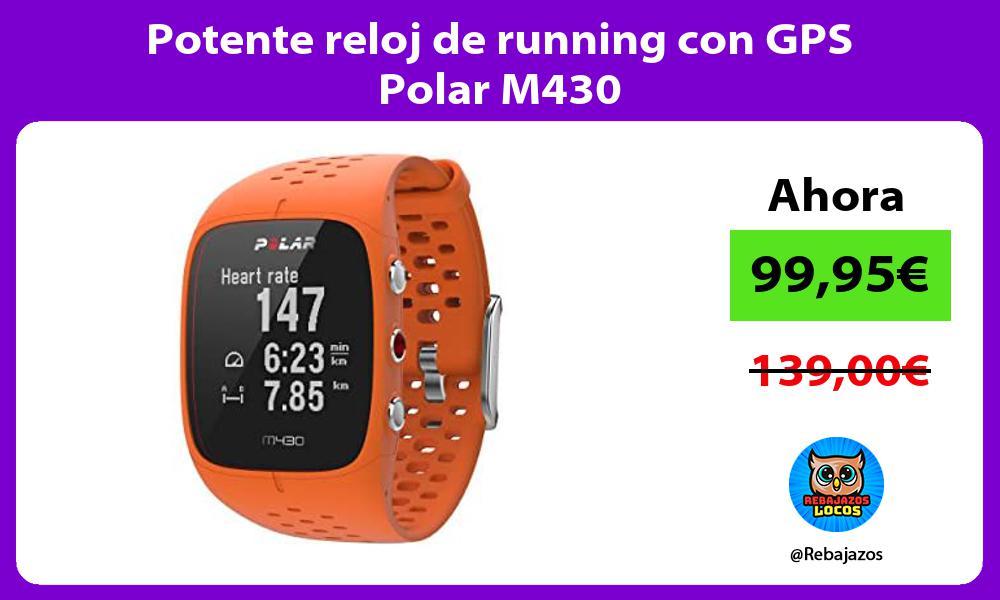 Potente reloj de running con GPS Polar M430