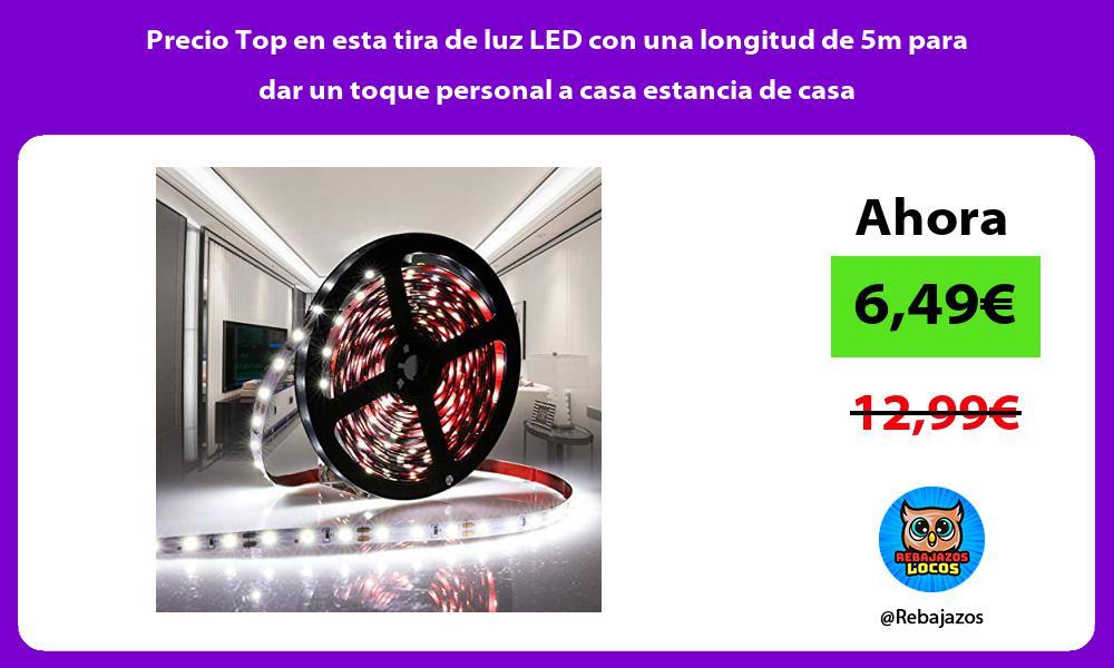 Precio Top en esta tira de luz LED con una longitud de 5m para dar un toque personal a casa estancia de casa