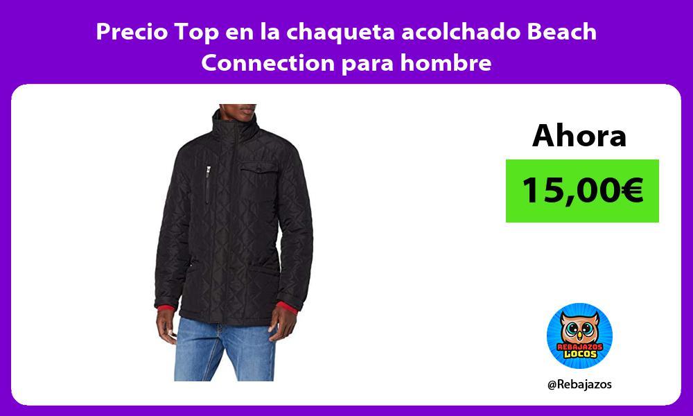 Precio Top en la chaqueta acolchado Beach Connection para hombre