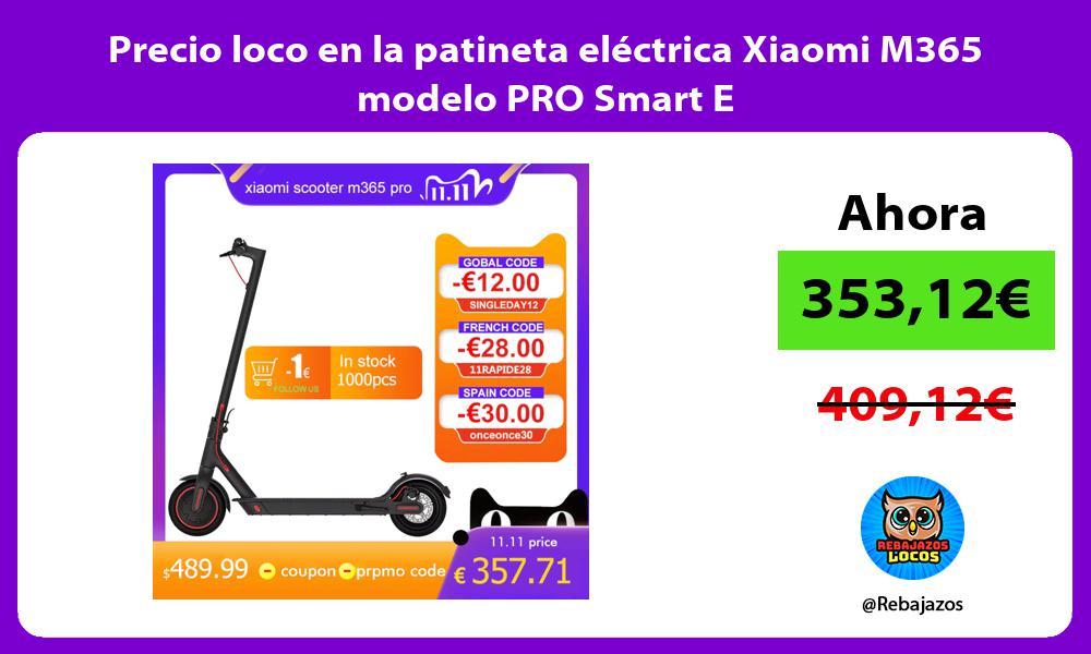 Precio loco en la patineta electrica Xiaomi M365 modelo PRO Smart E