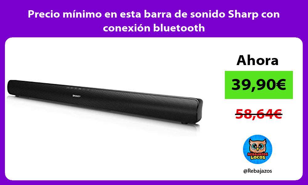 Precio minimo en esta barra de sonido Sharp con conexion bluetooth