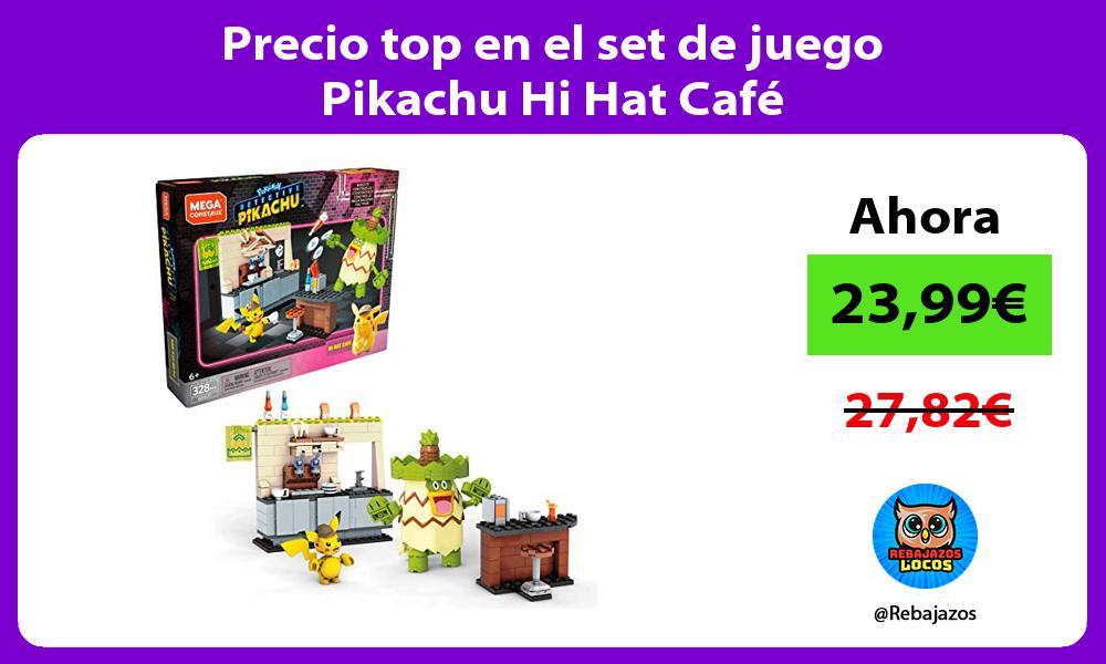 Precio top en el set de juego Pikachu Hi Hat Cafe