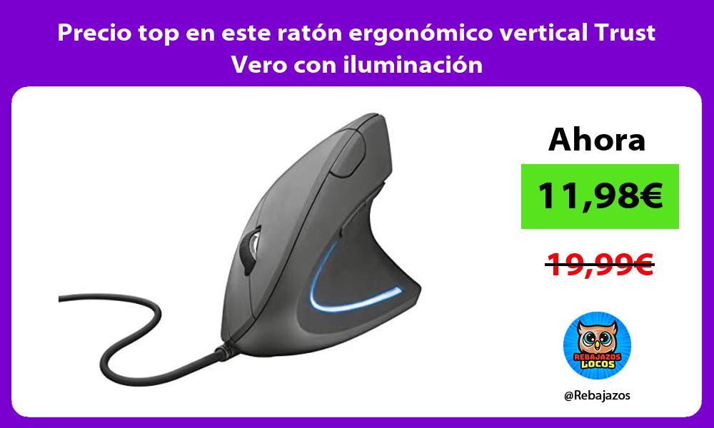 Precio top en este raton ergonomico vertical Trust Vero con iluminacion