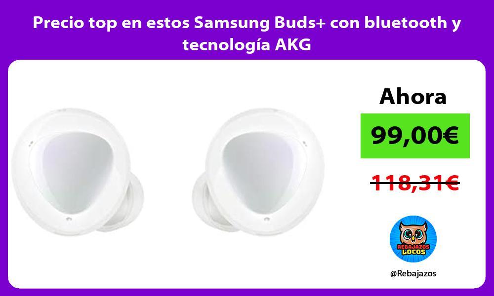 Precio top en estos Samsung Buds con bluetooth y tecnologia AKG