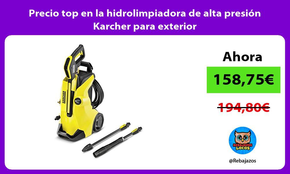 Precio top en la hidrolimpiadora de alta presion Karcher para exterior