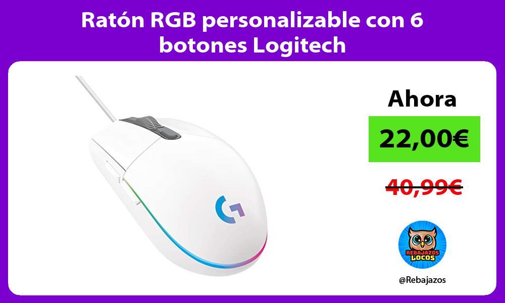Raton RGB personalizable con 6 botones Logitech
