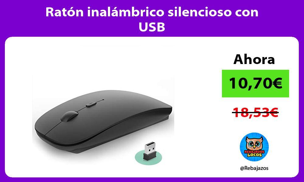 Raton inalambrico silencioso con USB