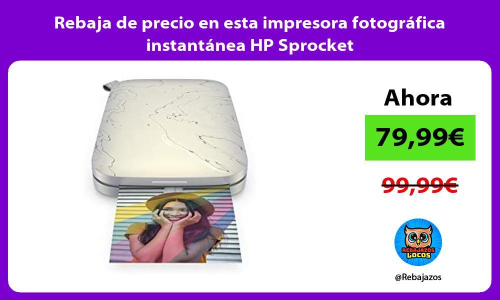 Rebaja de precio en esta impresora fotografica instantanea HP Sprocket