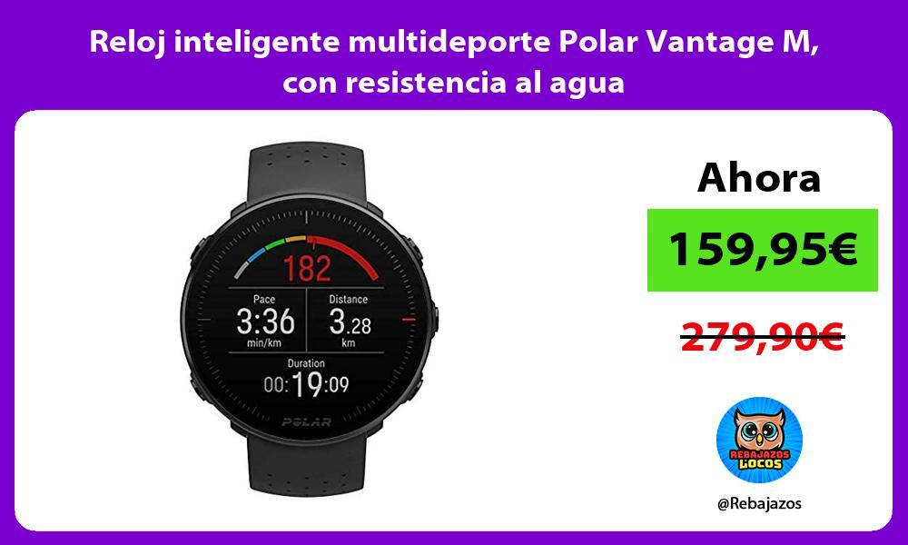 Reloj inteligente multideporte Polar Vantage M con resistencia al agua
