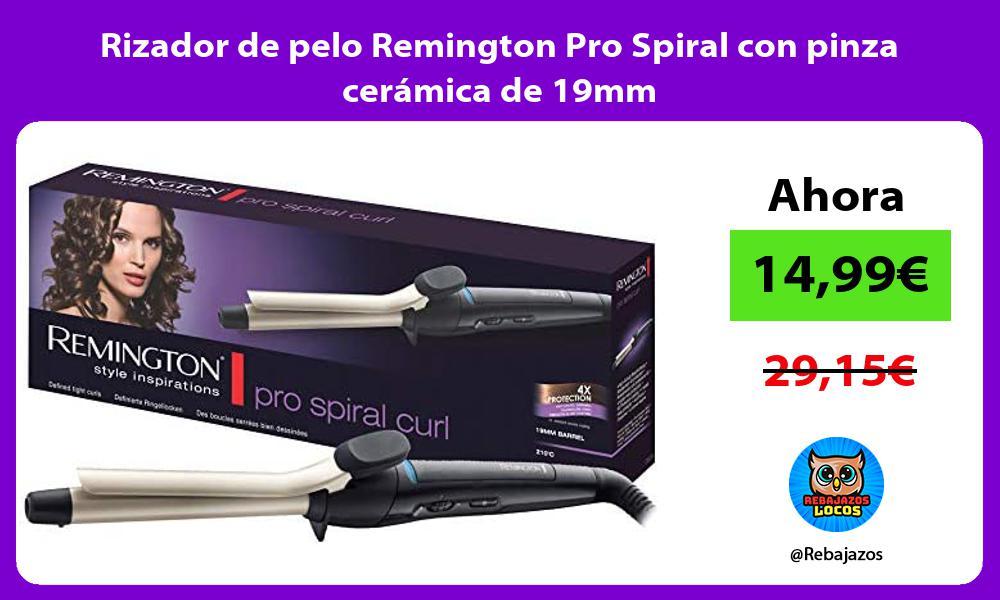 Rizador de pelo Remington Pro Spiral con pinza ceramica de 19mm
