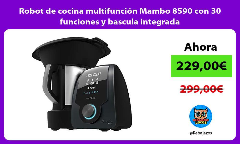 Robot de cocina multifuncion Mambo 8590 con 30 funciones y bascula integrada