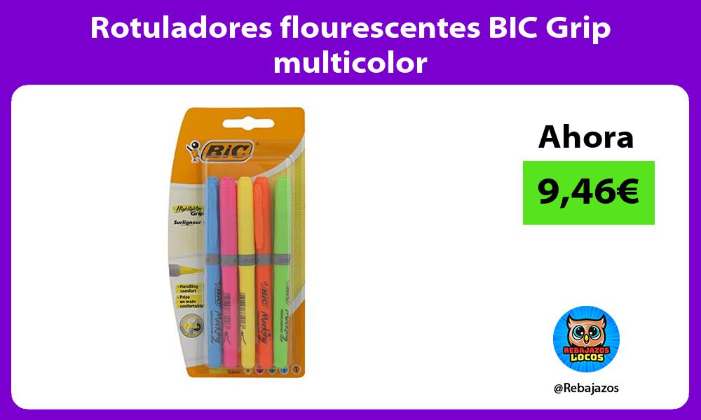 Rotuladores flourescentes BIC Grip multicolor