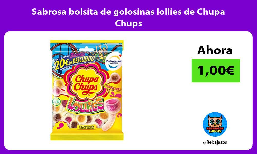Sabrosa bolsita de golosinas lollies de Chupa Chups