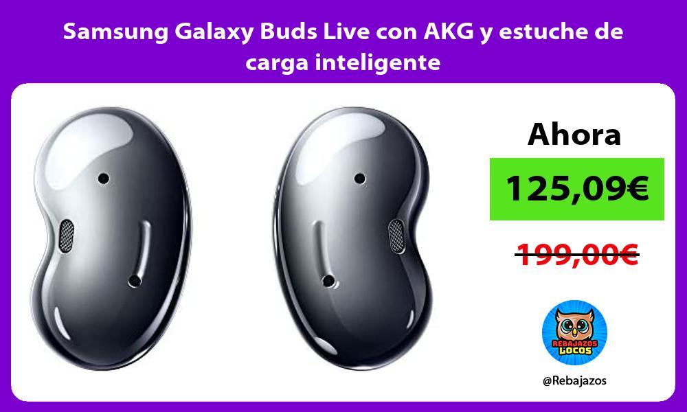 Samsung Galaxy Buds Live con AKG y estuche de carga inteligente