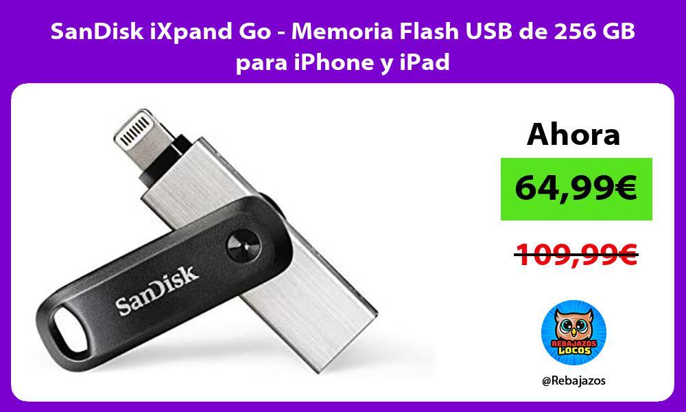 SanDisk iXpand Go Memoria Flash USB de 256 GB para iPhone y iPad