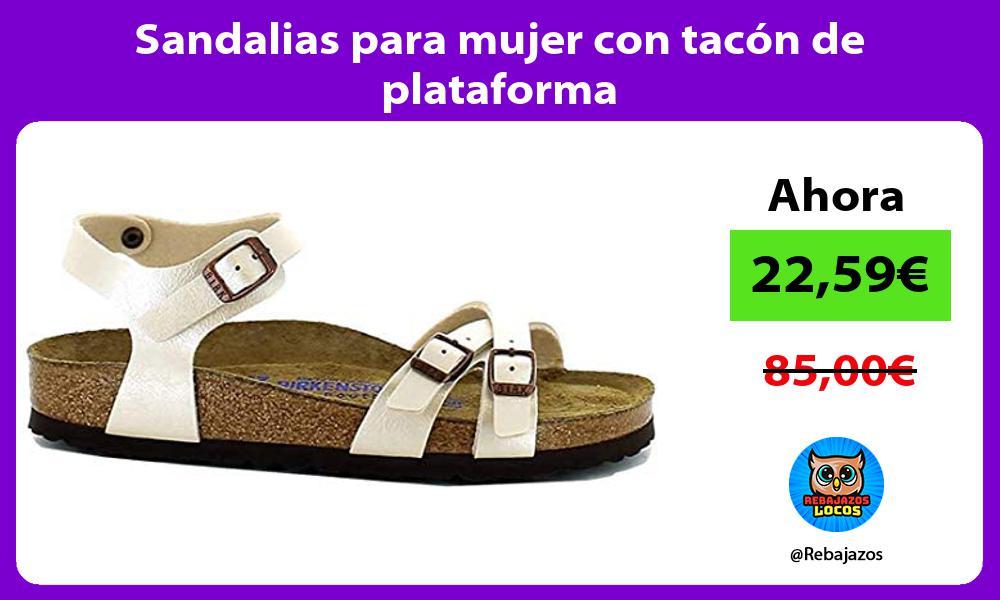 Sandalias para mujer con tacon de plataforma