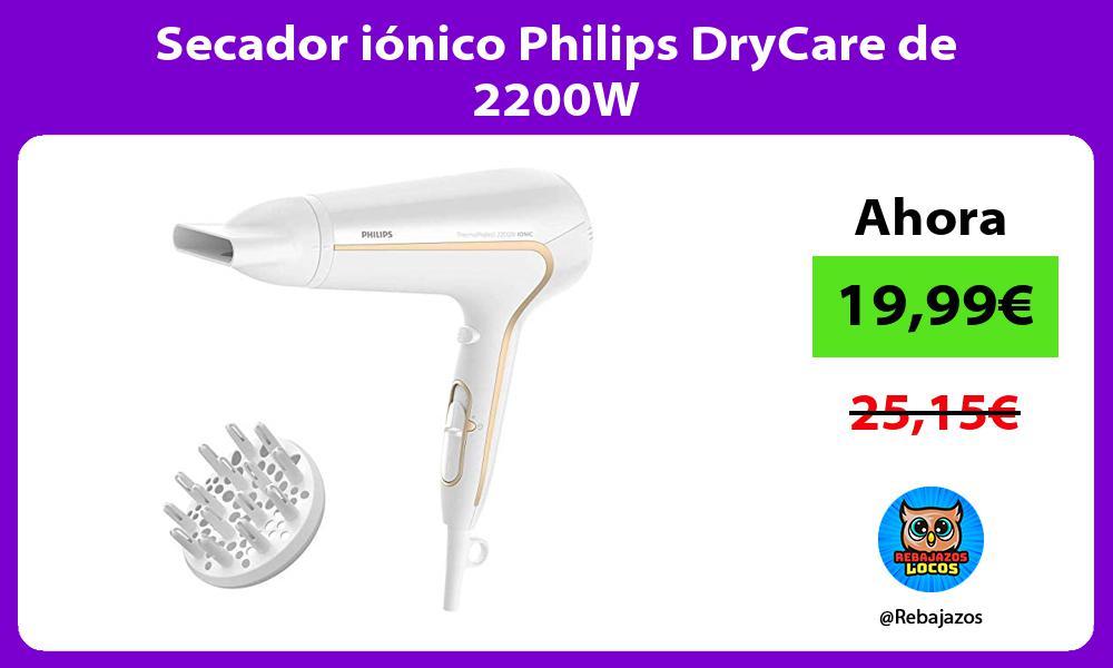Secador ionico Philips DryCare de 2200W