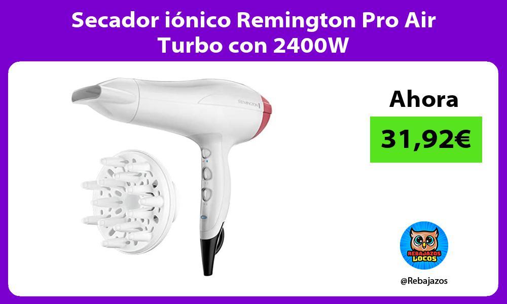 Secador ionico Remington Pro Air Turbo con 2400W