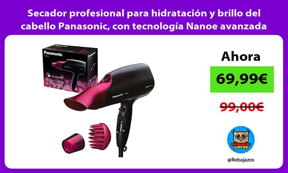 Secador profesional para hidratacion y brillo del cabello Panasonic con tecnologia Nanoe avanzada