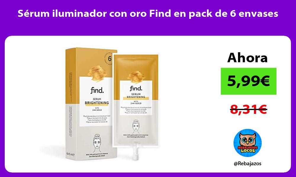 Serum iluminador con oro Find en pack de 6 envases