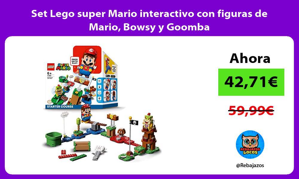 Set Lego super Mario interactivo con figuras de Mario Bowsy y Goomba