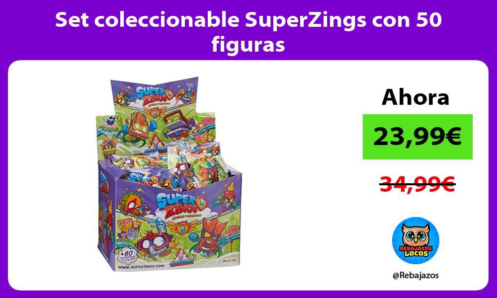 Set coleccionable SuperZings con 50 figuras