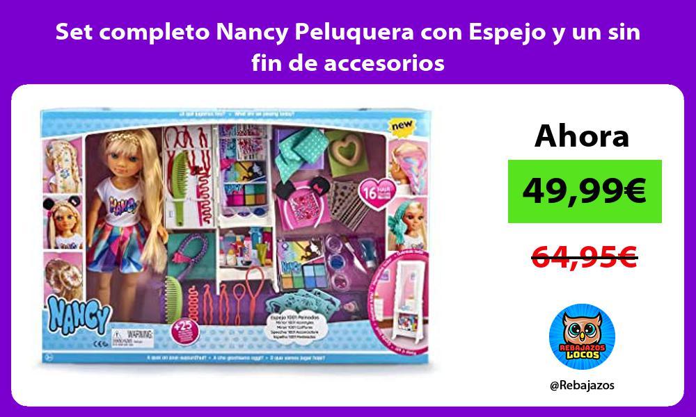 Set completo Nancy Peluquera con Espejo y un sin fin de accesorios