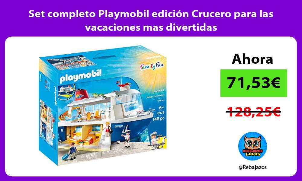 Set completo Playmobil edicion Crucero para las vacaciones mas divertidas