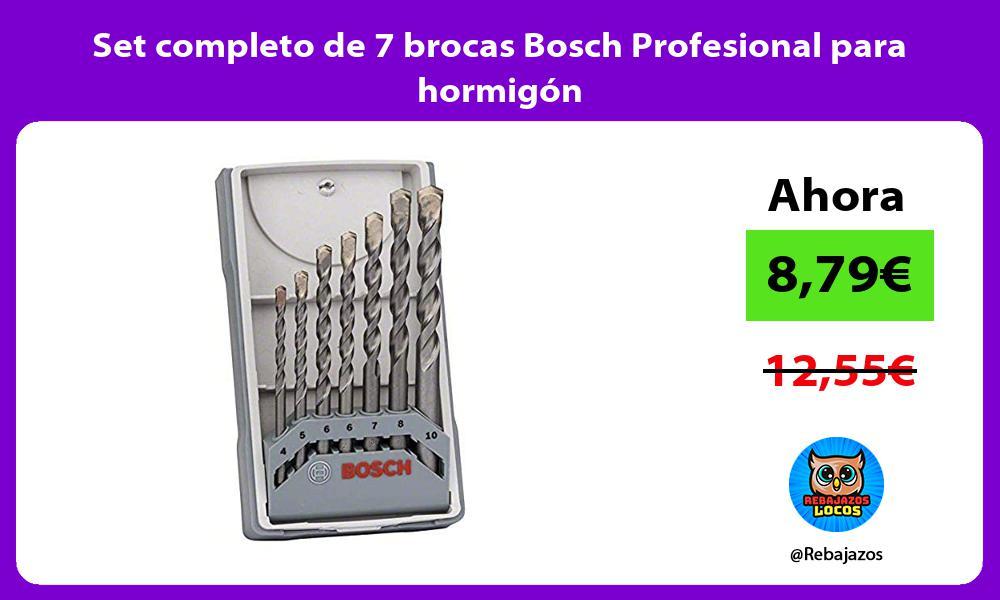 Set completo de 7 brocas Bosch Profesional para hormigon