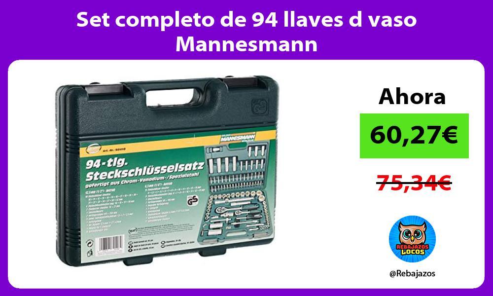 Set completo de 94 llaves d vaso Mannesmann