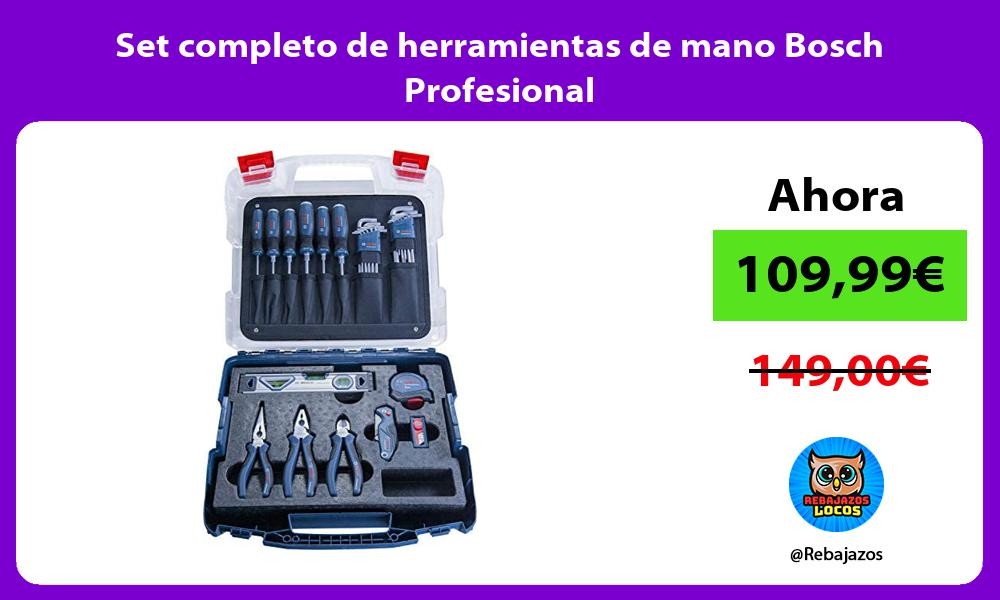 Set completo de herramientas de mano Bosch Profesional