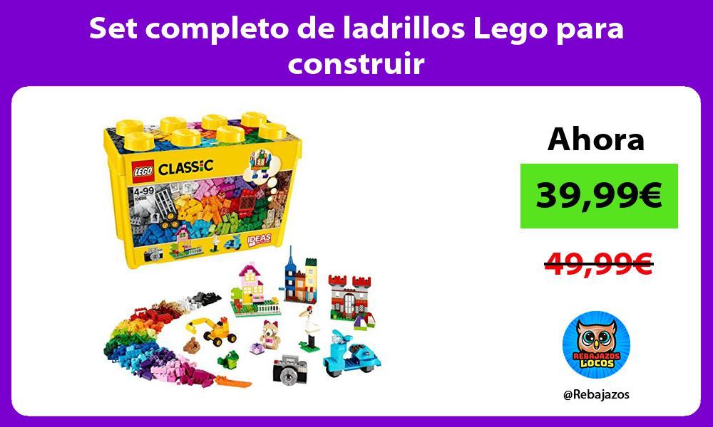 Set completo de ladrillos Lego para construir