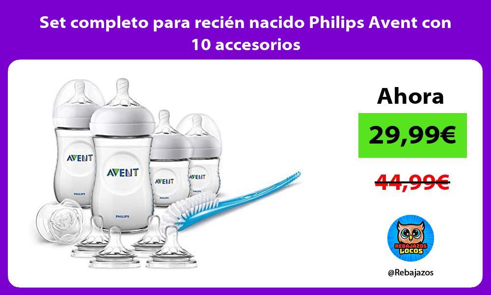 Set completo para recien nacido Philips Avent con 10 accesorios