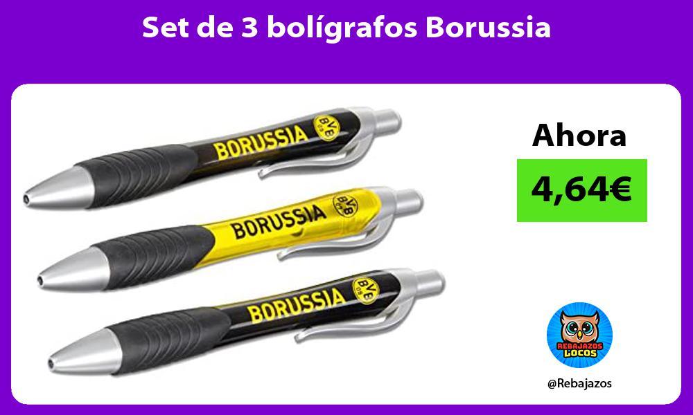 Set de 3 boligrafos Borussia