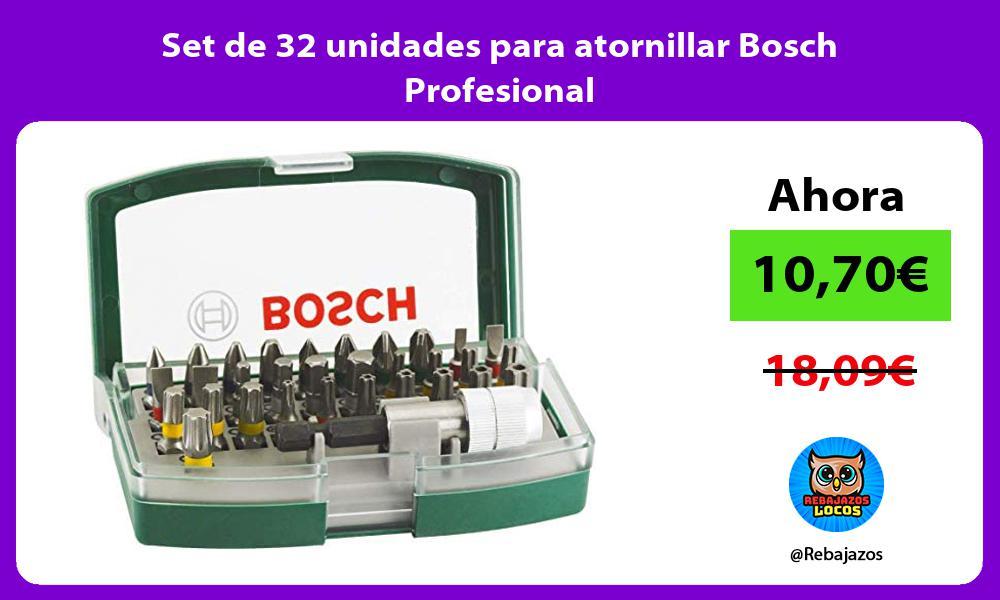 Set de 32 unidades para atornillar Bosch Profesional