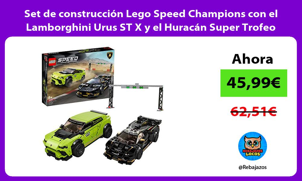 Set de construccion Lego Speed Champions con el Lamborghini Urus ST X y el Huracan Super Trofeo