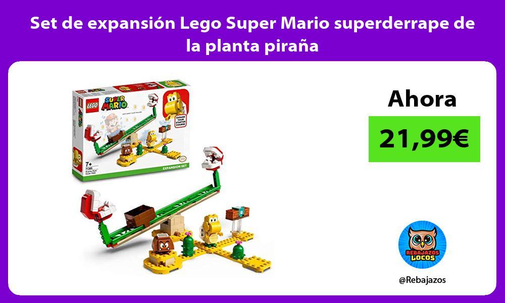 Set de expansion Lego Super Mario superderrape de la planta pirana