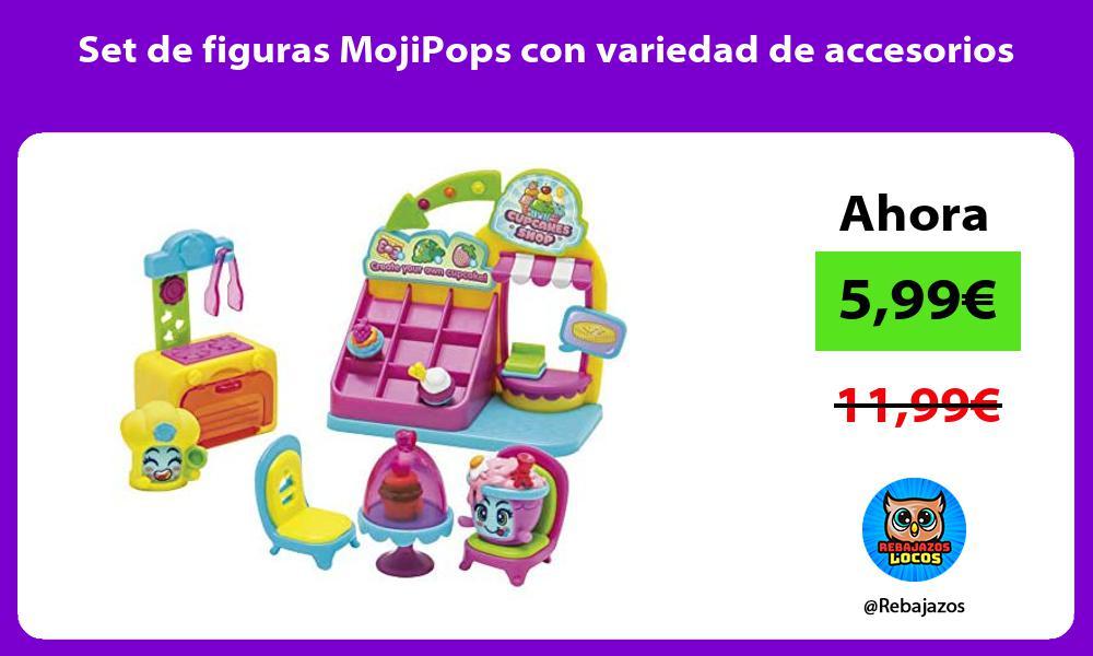 Set de figuras MojiPops con variedad de accesorios