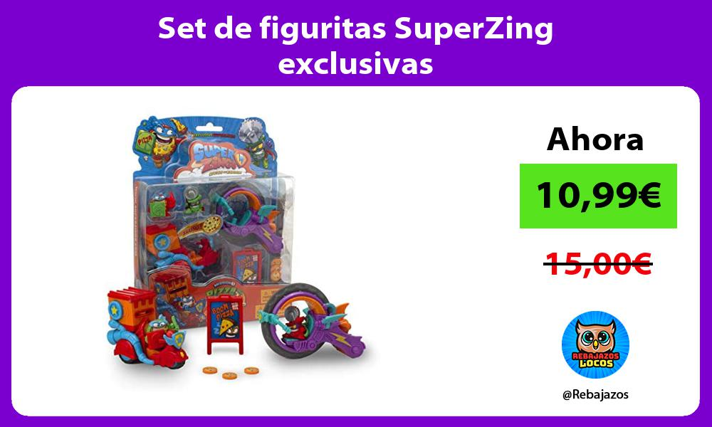 Set de figuritas SuperZing exclusivas