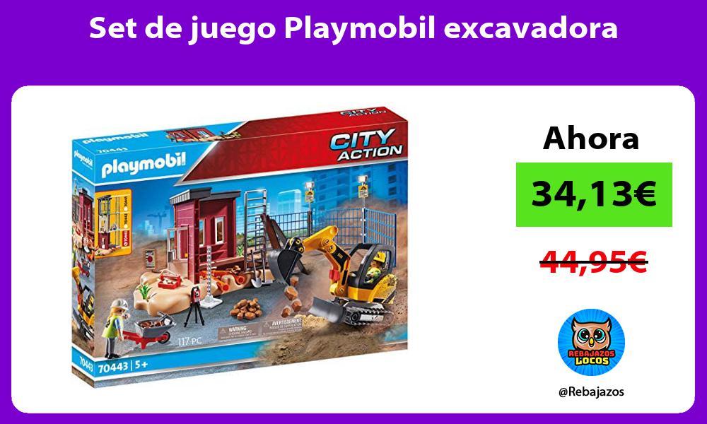 Set de juego Playmobil excavadora
