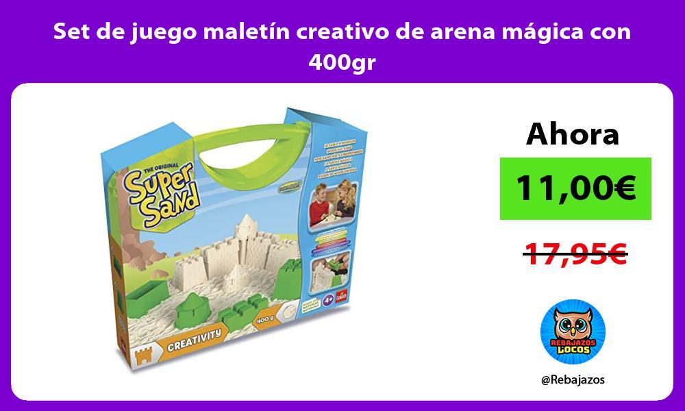 Set de juego maletin creativo de arena magica con 400gr