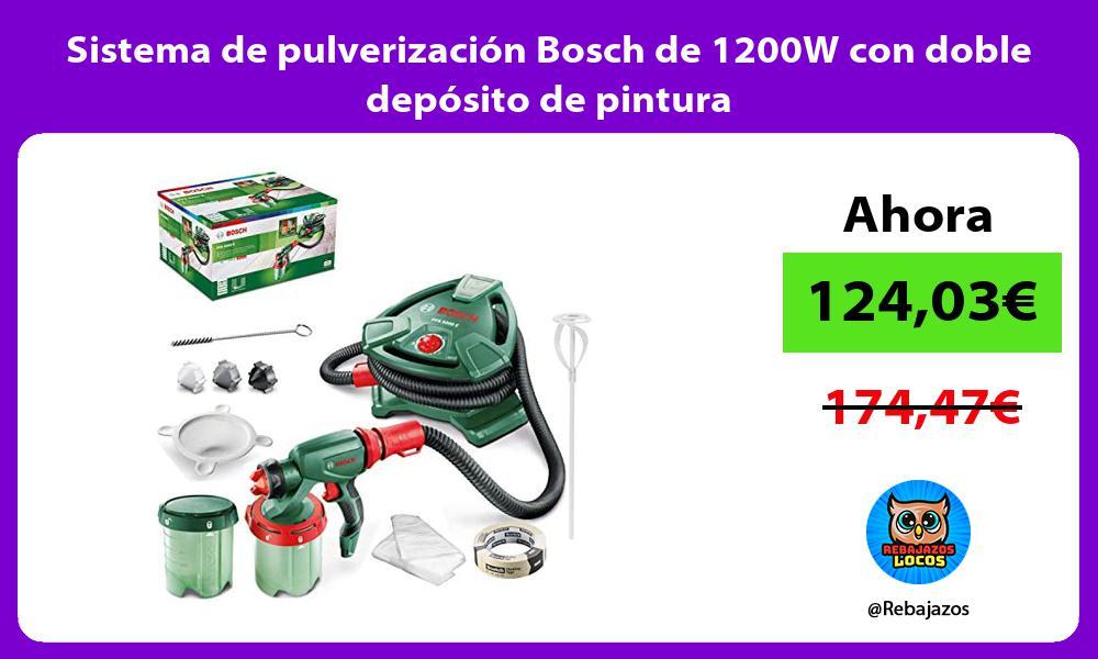 Sistema de pulverizacion Bosch de 1200W con doble deposito de pintura