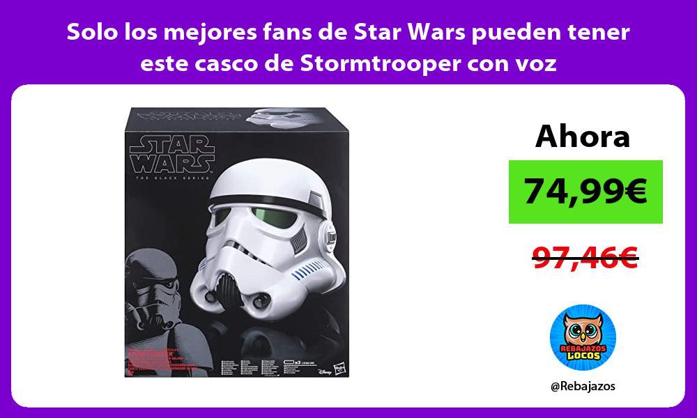 Solo los mejores fans de Star Wars pueden tener este casco de Stormtrooper con voz