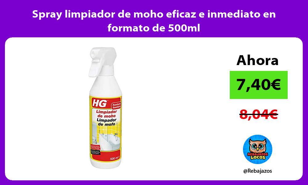 Spray limpiador de moho eficaz e inmediato en formato de 500ml