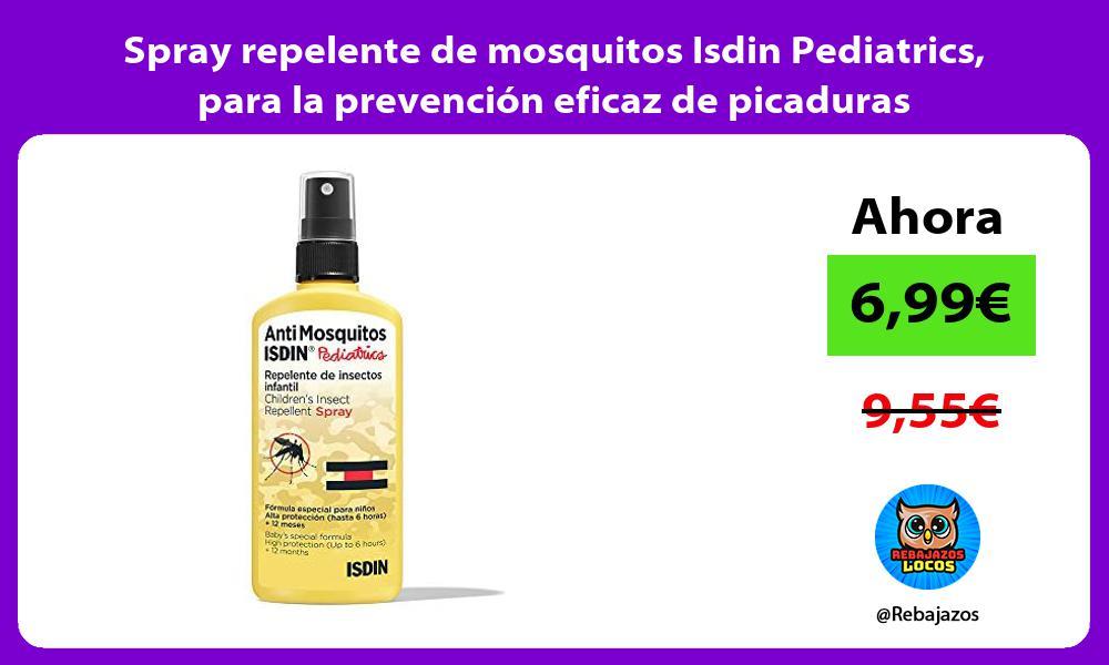 Spray repelente de mosquitos Isdin Pediatrics para la prevencion eficaz de picaduras